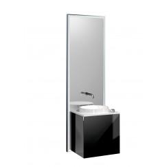 Emco Touch 450 badmeubelset deurgreep links zwart/zwart Zwart/zwart 955229401