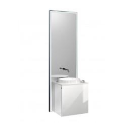 Emco Touch 450 badmeubelset deurgreep links zwart/optiwhite Zwart/optiwhite 955229301