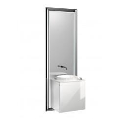 Emco Touch 450 badmeubelset deurgreep links zwart/optiwhite Zwart/optiwhite 955129301
