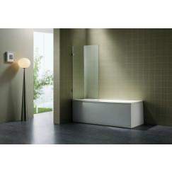 Novio Free Bath badwand 80x140cm. chroom-helder clean Chroom