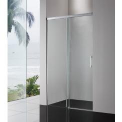 Novio Free Soft 2.0 schuifdeur 140x200cm helder clean chroom Glans Zilver
