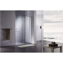Novio Free Towel draaideur 100x200cm vast segm. chroom-helder clean Chroom