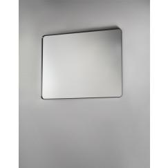 Novio Rocco spiegel rechthoekig ronde hoeken 80x120 mat zwart Mat Zwart