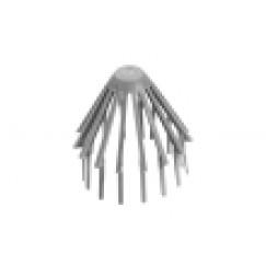 Walraven  pvc regenwaterafvoer bladvanger grijs 80 / 100 Grijs 5952080
