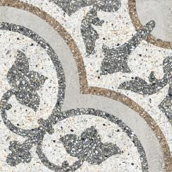 Terrazzo tegels Casale Siena grigio 25x25