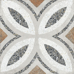 Terrazzo tegels Casale Firenze grigio 25x25