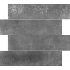 Tegelstroken Limburg Antracita 14,5x58,5 rett