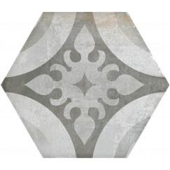 Hexagon Madelaine Decor Antraciet 17,5x17,5