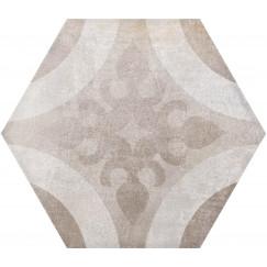 Hexagon Madelaine Decor Moka 17,5x17,5