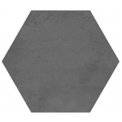 Hexagon Madelaine Antraciet 17,5x17,5