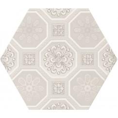 Hexagon Vodevil Decor Ivory 17,5x17,5