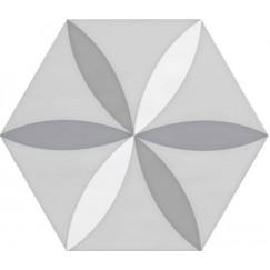 Hexagon Vodevil Decor White 17,5x17,5