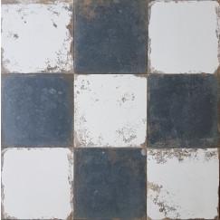 Antique Black/white dambord 33,3x33,3