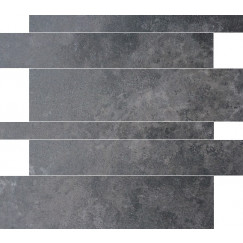 Tegelstroken Gravel Antraciet 5-10-15x60 cm rett