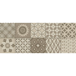 Wandtegels decor Metropoli Isole brown 20x50