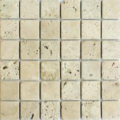 Mozaiek Classic travertin Apulia ivory anticato 4,8x4,8x1
